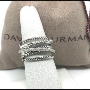 David Yurman Crossover Wide Diamond Ring